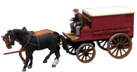 AR387.64 Charrette de fermier fermée à 2 chevaux