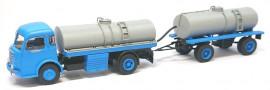 CB- 100 Panhard Movic Citerne à Vin + Remorque (Bleu et Gris)