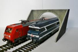 BOIS MODELISME Entrée de tunnel - double voie