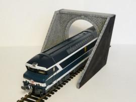 BOIS MODELISME - Entrée de tunnel - simple voie