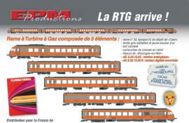 EP221502 Coffret RTG 5 éléments livrée gris métalisée, jaune bouton d'or, toit cannelé, cartouche en relief, blason de Boulogne sur mer