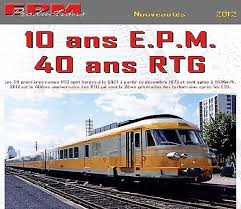 Rame 5 éléments RTG dépot de Lyon Sncf analogique -HO-1/87-EPM