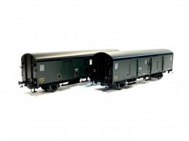 MW30301 Set 2 Fourgons métallisés Midi Dqd2m 49681-49761, avec feux de fin de convoi