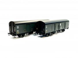 MW30303 Set 2 Fourgons métallisés Midi Dqd2m 49666-49700, avec feux de fin de convoi