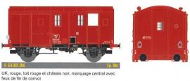EP51.02.06 Fourgon M, F Uk,rouge, T rouge, C noir, feu fin de convoi