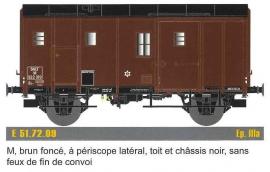EP51.72.09 Fourgon M, F M, Brun foncé, T et C noir