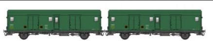 MW30305 Set 2 Fourgons métallisés Midi Dqd2m 49764-49662, avec feux de fin de convoi
