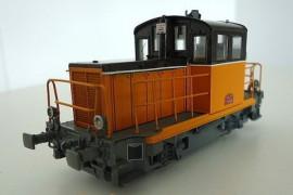 EPM 121708  Locotracteur diesel Y-6438 livrée orange arzens, châssis noir, bande blanche, plaque rouge