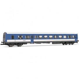 HJ4113 Remorque d'autorail XR-6000 seconde classe livrée bleue et blanc avec logo nouille