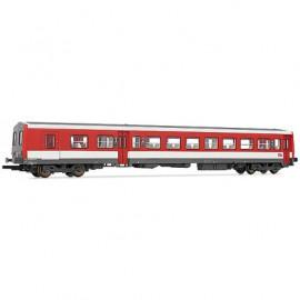 HJ4121 Remorque d'autorail XRABD-6524 mixte 1cl/2cl livrée rouge/blanc avec logo carmillon du dépôt de Bordeaux St Jean