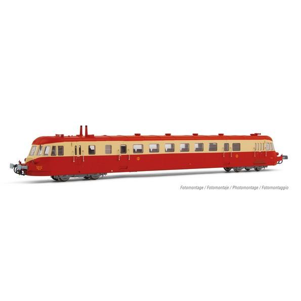 HJ2409S Autorail ABJ 2, rouge/crème, toit rouge, SNCF, époque III