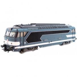 HJ2264B Locomotive diesel BB 67060 livrée bleue du dépôt de Caen
