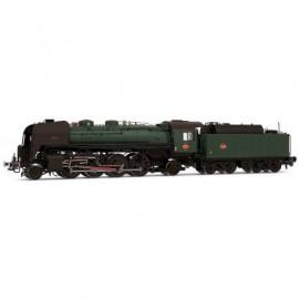 HJ2276 Locomotive à vapeur SNCF, 141 R 1155, livrée verte et noire, tender fuel