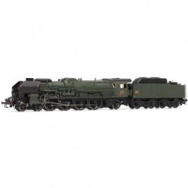 HJ2344 Locomotive à vapeur 241 P 1 livrée verte d'origine du dépôt de Dijon