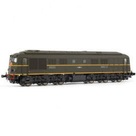 HJ2353 Locomotive diesel 060 DA 1 livrée verte avec châssis noir du dépôt de La Plaine