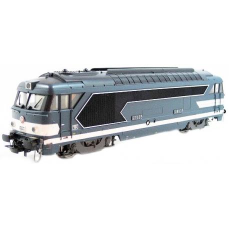 HJ2270A Locomotive diesel BB 67359 livrée bleue du dépôt de Tours