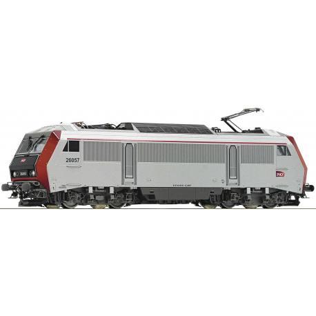 73866 Locomotive électrique BB 26057 livrée grise avec logo carmillon