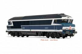 HJ2600 LOCOMOTIVE DIESEL CC 72000 LIVREE D'ORIGINE A FENETRE D'ANGLE OPTURE SNCF