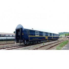 HJ4130 Voiture lits T2 - livrée TEN blanche et bleue - toit argent - logo encadré