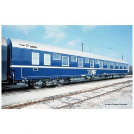 HJ4131 Voiture lits T2 - livrée TEN blanche et bleue - toit argent - logo encadré