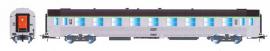 HJ4138 VOITURE VOYAGEURS DEV INOX B10 2°CL TOIT NOIR SNCF