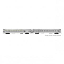 HJ4145 Coffret DEV Inox, 2 voitures A7Dtj + B10j, SNCF