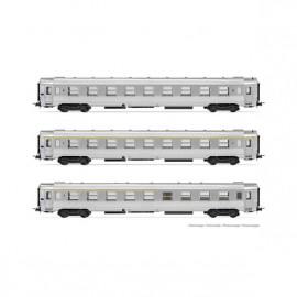 HJ4146 Coffret DEV Inox, 3 voitures A9tj + B10tj + A5rtj, SNCF
