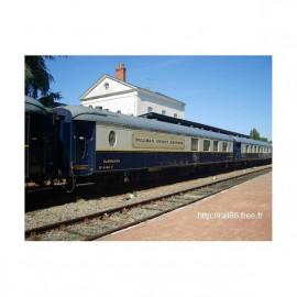 """HJ4155 Coffret CIWL, 2 voitures 4148 """"Côte d'Azur"""" bar + 4160 """"Train Bleu"""" salon"""