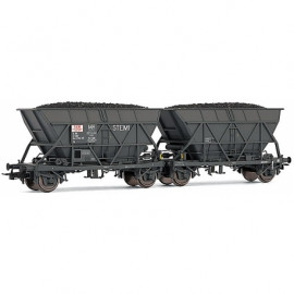 HJ6144 Couplage de 2 wagons trémies à essieux «STEMI» type EF30