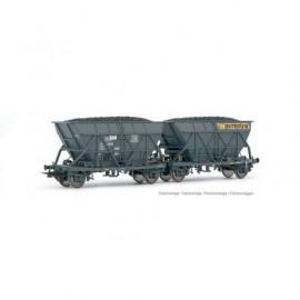 HJ6198 Set de 2 wagons-trémies EF60, SNCF, livrée «Simotra»
