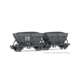 HJ6199 Set de 2 wagons-trémies EF60, SNCF, livrée «SGW»