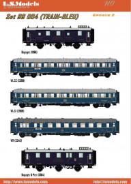 MW 1004 Set train bleu «CIWL» 5 voitures