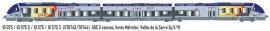 LS 10075 AUTOMOTRICE AGC 3 CAISSES LIVREE METROLOR, VALLEE DE LA SARRE