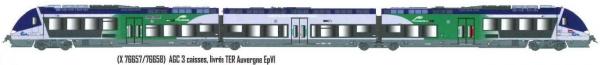 LS 10073S AUTOMOTRICE AGC X 76657/76658 3 PIECES LIVREE TER AUVERGNE SNCF