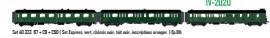 LS 40323.1 SET DE 3 VOITURES VOYAGEURS EXPRESS NORD SNCF
