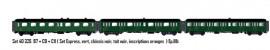 LS 40325.1 SET DE 3 VOITURES VOYAGEURS EXPRESS NORD SNCF