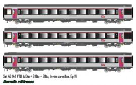 LS 40144 ENSEMBLE DE 3 VOITURES CORAIL LIVREE CARMILLON SNCF