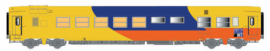 LS 40155 Voiture Sr, jaune/bleu/orange, Espace Qualité