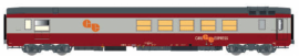 LS 40159 Voiture Gril express, rouge/gris béton, Logo GE orange