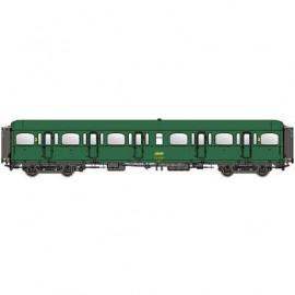 LS 40318 Voiture voyageurs seconde classe B11 EXPRESS NORD livrée vert châssis gris avec marquage UIC et logo encadré