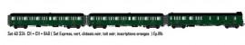 LS 40324 SET DE 3 VOITURES VOYAGEURS EXPRESS NORD SNCF