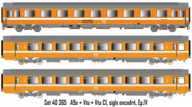 LS 40365 coffret de 3 voitures Vtu et VSE ORANGE SNCF