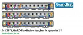LS 41209 Coffret 3 voitures Vtu Alsace Grand Est avec logo carmillon