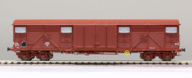 LS 30343Wagon couvert à bogies type Gas 8-16 livrée rouge UIC avec volets d'aération en inox