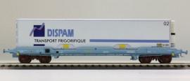 LS 30309 Wagon plat avec caisse mobile frigorifique DISPAM livrée transport frigorifique