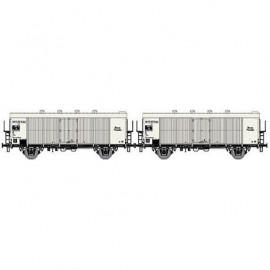 LS 30510 Coffret de 2 wagons couvert frigorifique INTERFRIGO livrée blanc