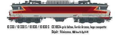LS 10330S  CC6534 gris béton, livrée Arzens, logo casquette