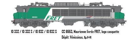 LS 10332S  CC 6553, Maurienne livrée FRET, logo casquette