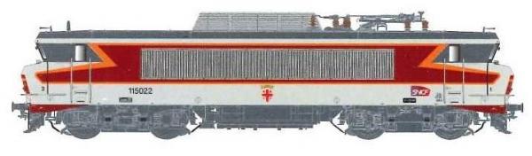 LS 10989S BB 15022, livrée «Arzens», gris béton,, 160 km/h, sigle Carmillon, blason Pantin, dépôt d'Archères