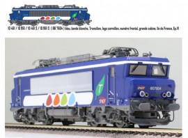 LS 10451DS Locomotive électrique BB 7604 livrée Transilien grise et bleue avec logo carmillon du dépôt de Montrouge
